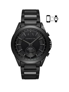 Armani Exchange Connected Black IP Stainless Steel Hybrid Smartwatch, One Colour, Men thumbnail