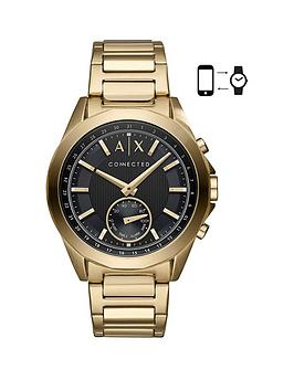 Armani Exchange Connected Gold Plated Stainless Steel Hybrid Smartwatch thumbnail
