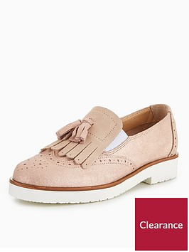 v-by-very-patience-chunky-sole-tassle-loafer-pink