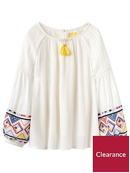 joules-girls-jasmine-embroidered-woven-top-cream-seaside