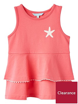 joules-girls-double-peplum-jersey-top-red-sky