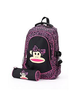 Paul Frank 3D Bow Backpack And Pencil Case Set