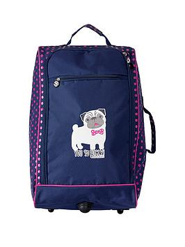 David & Goliath You So Pugly 2-Wheel Trolley Case