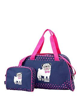 David & Goliath You So Pugly Holdall And Wash Bag Set