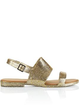 melissa-classy-19-double-strap-sandals-gold