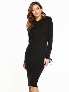 v-by-very-skinny-rib-knitted-dress-black