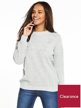 v-by-very-lace-up-front-stitch-detail-jumper