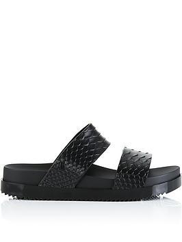 melissa-baja-cosmic-python-double-strap-slides-black