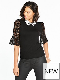 oasis-nottingham-lace-annie-collar-jumper-black