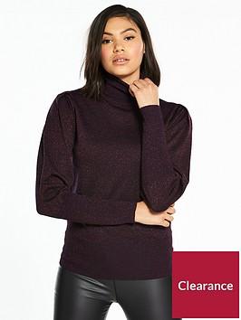 oasis-lurex-history-sleeve-jumper-purple