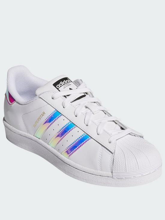adidas Originals Superstar Junior Trainer - White Iridescent  d41378552