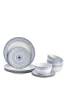 ideal-home-blue-artisan-12-piece-dinner-set