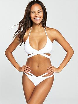 South Beach Nostalgia Wraparound Bikini Set - White