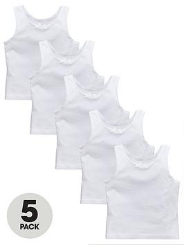 v-by-very-girls-5-pack-sleeveless-vests-white