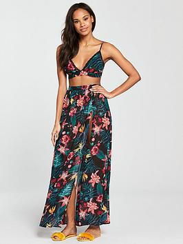 South Beach Chiffon Tropical Co-Ord Set - Tropical Print