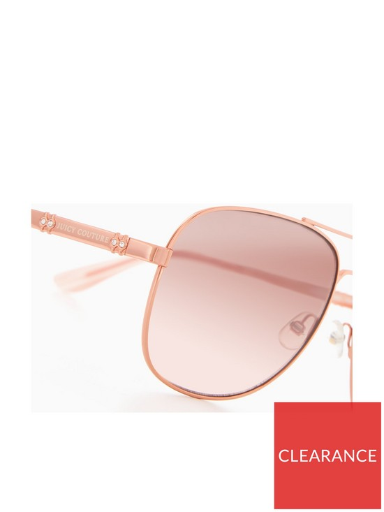 d9254d778e ... Juicy Couture Aviator Sunglasses - Rose Gold. View larger