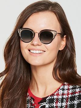 Jimmy Choo Dhelia Sunglasses - Black/Gold