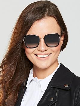 Jimmy Choo Elva Sunglasses - Black/Gold