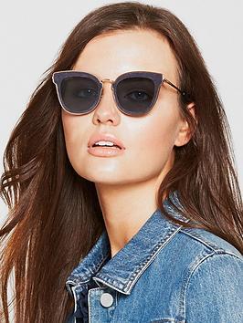 Jimmy Choo Nile Sunglasses - Gold/Blue