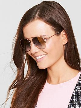 Marc Jacobs Twisted Brow Bar Sunglasses - Gold
