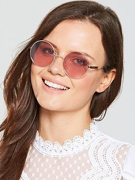 Polaroid Round Lens Sunglasses - Pink