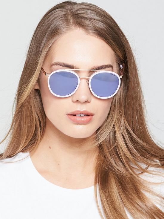 0996c19de9c9 Polaroid Round Lens Brow Bar Sunglasses - Pink   very.co.uk