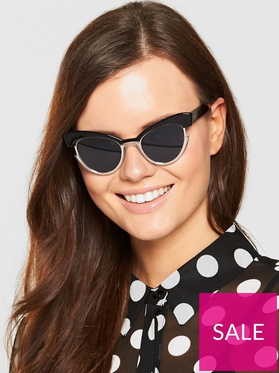 ad6350f1db88 Max Mara Ingrid Sunglasses - Black   very.co.uk