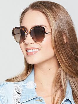 Max Mara Needle Gold Sunglasses