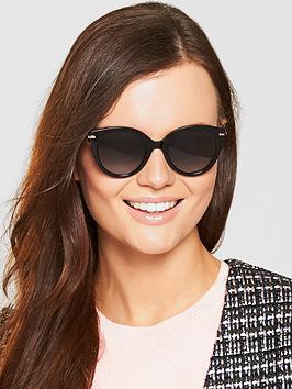 Max Mara Needle Sunglasses - Black/Gold