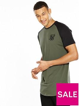 sik-silk-contrast-raglan-logo-tshirt