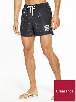 sik-silk-marble-swim-shorts