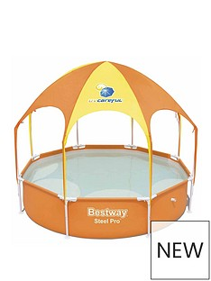 bestway-8ft-splash-amp-shade-play-pool