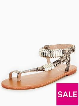 carvela-klippernbspasymmetric-flat-sandal-snake-print