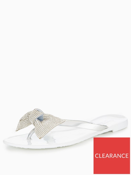 9f3a37fb2 Carvela Sweet Bling Bow Jelly Shoe - White