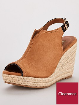 wallis-spinning-microfibre-foot-cover-peep-toe-wedge-tan