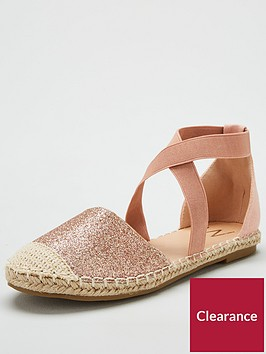 wallis-bloom-elastic-closed-toe-flat-espadrille-pink
