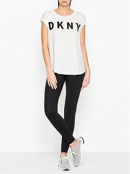 dkny-cap-sleevenbsplogo-t-shirt-white