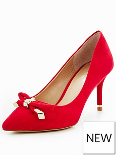 carvela-kupid-hardwear-bow-court-red