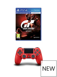 playstation-4-gran-turismo-sport-and-magma-red-dualshock-controller-ps4