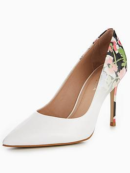 Carvela Alison Floral Court Shoe - White