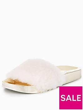 carvela-carvela-karridge-fluffy-slider-cream