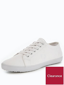 fred-perry-kingston-lace-upnbspmicrofibre-cement-trainer-pumps-white