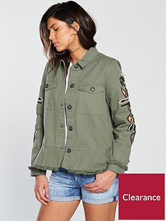 v-by-very-embroidered-peplum-utility-jacket-khaki