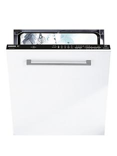 Hoover HDI1LO38B80 13-Place Setting Full Size Integrated Dishwasher with One Touch - White/Black Best Price, Cheapest Prices