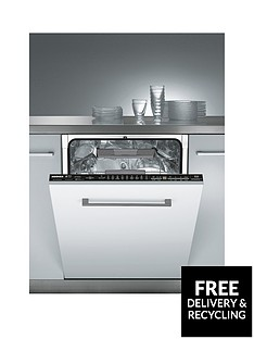 Hoover HDI3DO623DUK 16 Place Setting Full Size Dishwasher with One Touch - White/Black Best Price, Cheapest Prices