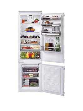 Hoover Bhbf182Nuk 185Cm High, 54Cm Wide, One Touch, Integrated Frost-Free Fridge Freezer - White - Fridge Freezer Only Best Price, Cheapest Prices