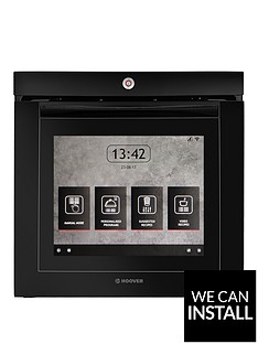 hoover-vision-wi-fi-built-in-touch-screen-electric-single-oven-with-optional-installation-black-glass