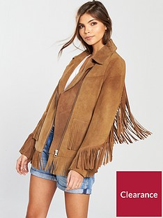 v-by-very-premium-suede-fringe-jacket-tan