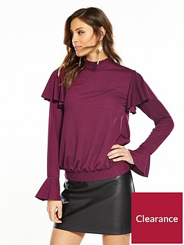 v-by-very-tie-back-long-sleeve-top-plum