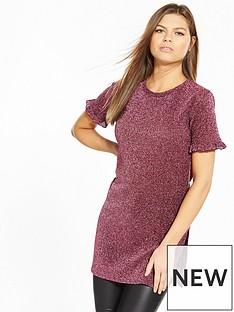 v-by-very-metallic-ruffle-tunic-top-pink